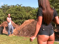 Big Cock Banging for Horny Slut Lexxy in Outdoors Video