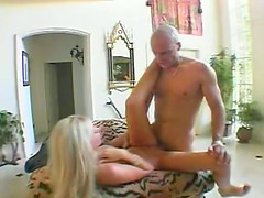 Sexy blonde whore in this video is showing off her blowjob skills and they are substantial