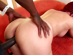 Redhead Hoe Gets Big Black Cock In Her Tight Vagina