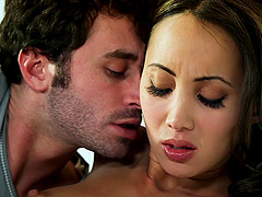 Katsuni lets a horny man fuck her pussy in many positions