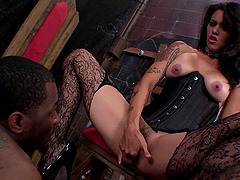 After punishing her man this mistress lets him fuck her