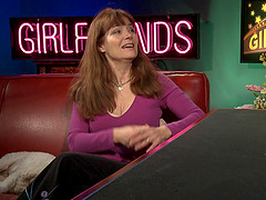 Veronica Hart is a porn legend talking with two babes on a show