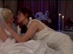 On the night of their wedding, lesbian couple engage in all sorts of romance