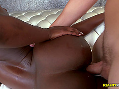 Pounding proper ebony receives a slut also not