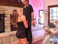 She is so turned on she lets him take that ass in front of the fireplace