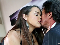 Slippery pussy of Dillion Harper fucked by a big cock