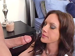 His dick gets wet in the shaved pussy of the skinny porn slut