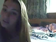 A nasty teen shows her goods on the webcam and laughs