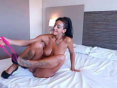 Taking a milf up to the hotel room and pounding her pussy