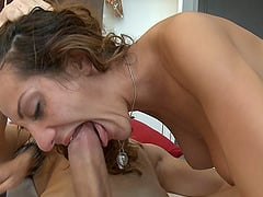 Alice Romain loves when the sucking turns into wild pussy pounding