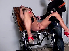 Barra Bound Gagged Spanked Whipped Vibed Machine-fucked