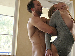Kandace Kayne is perfect worshiping cock and getting fucked