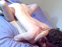 Sexy young couple fuck each other passionately