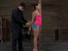 Fit chick wants to make her master happy during a BDSM game