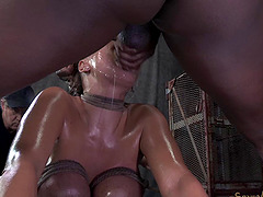 Bondage diva tight anal getting fucked when tortured in BDSM