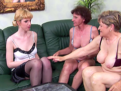 Pussy craving Fabiana seduced by a couple of kinky babes