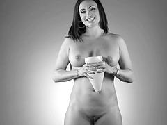 Claudia Valentine and a hot black and white performance