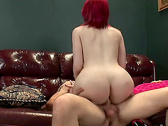 Busty shemale Sarina Valentina gets her tight asshole fucked