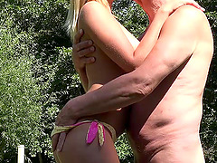 Small tits Ario Logan bend  over having her pussy banged hardcore