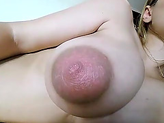 Hot sexy girl toying her big tits on live webcam