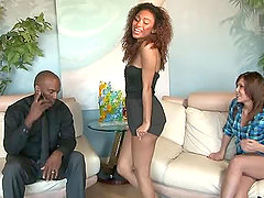 Interracial Swingers haivng an amazing orgy in the living room
