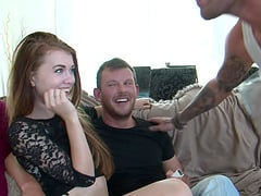 Pretty blonde Victoria Summers bends over for a hard prick