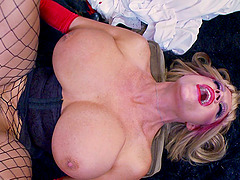 Kelly Madison is a nasty nurse craving to ride a stiff boner