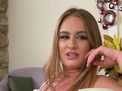 Goreous blonde Daisy Stone fucked well during an interracial shag