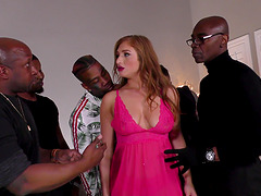 Black dudes blowbanging Skylar Snow who is salacious and sexy