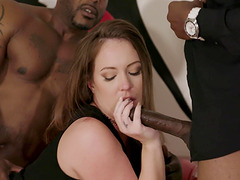 Maddy O'Reilly has fun like no one else with two black cocks