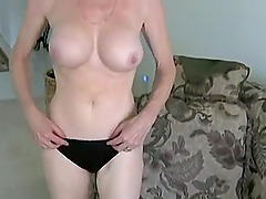 Naughty mature babe gets her shaved cunt filled with a big cock