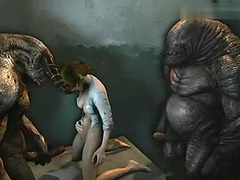 Sexual Adventures of Hot Lara Croft and Monsters