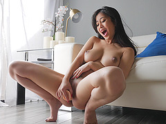 Nothing makes Jade as happy as ramming a dildo in her pussy