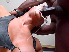 Irresistible girl Tia Ling gets to taste a big black dick
