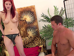 Dude can't get enough of being fucked by Neala with a strapon