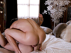 Brunette babe Avery Stone fucked hard in all positions