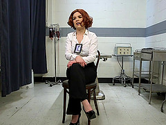 Redhead Detective Juliette March gets gangbanged by her coworkers