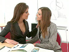 Smoking hot babes are acting naughty int he office