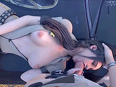 Beautiful sluts from various video games give deepthroat to lucky huge dick players