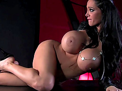 Pornstars Puma Swede and Amy Anderssen playing with rope and fingers