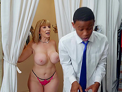 experienced milf Sara Jay teaches her black friend all about rough sex