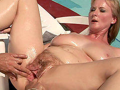 Old Woman Getting Fucked By The Pool
