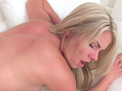 Blonde chick loves to be pleased and to receive a sticky cum load