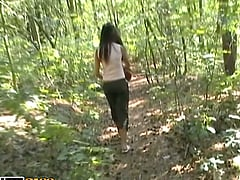 Horny Amateur Couple Fucking Outdoors in the Woods