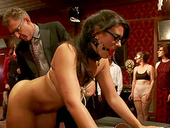 Naughty sex slaves suck big dick and get pounded