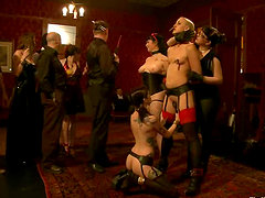 Two submissive girls in an amazing BDSM video
