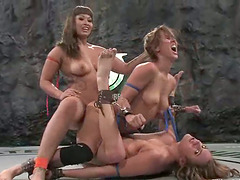Ebony lesbische Catfight