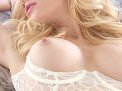 Charming blond angel Kennedy Summers's solo compilation